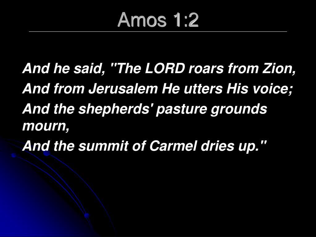 Amos 1:2