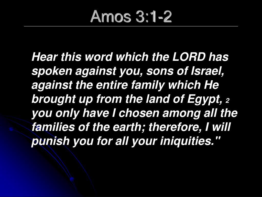 Amos 3:1-2