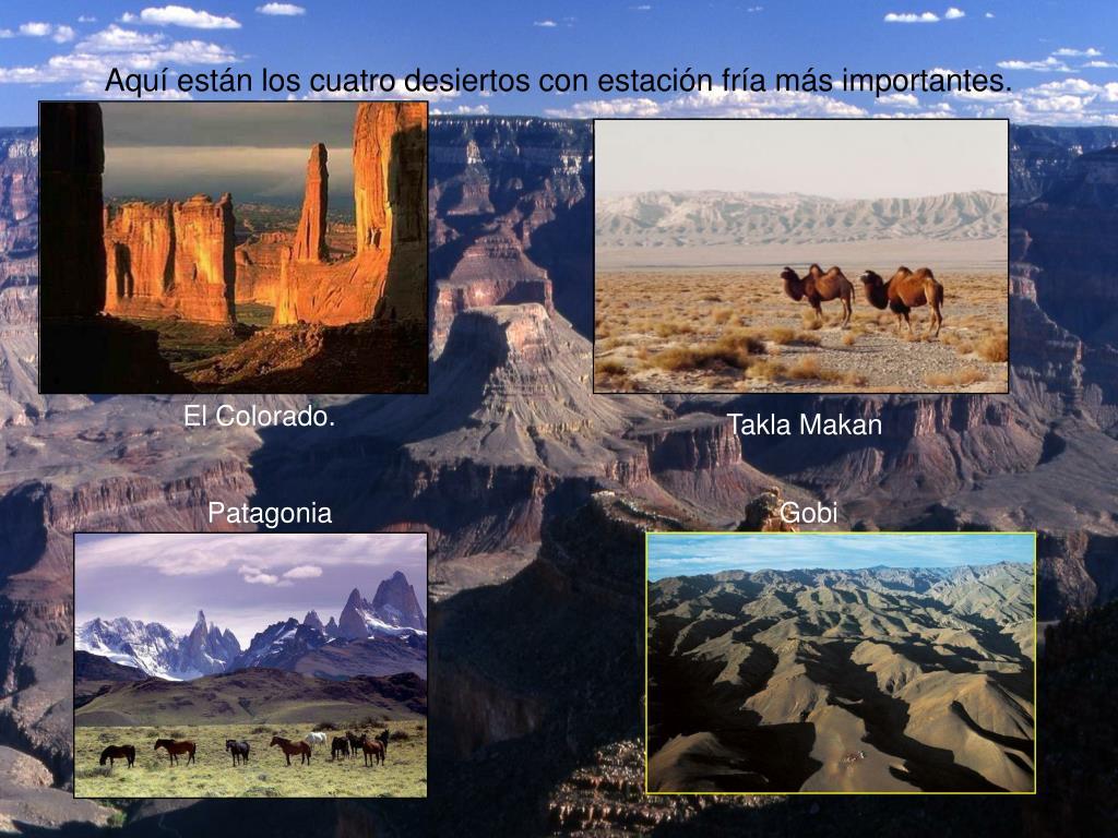 Aquí están los cuatro desiertos con estación fría más importantes.