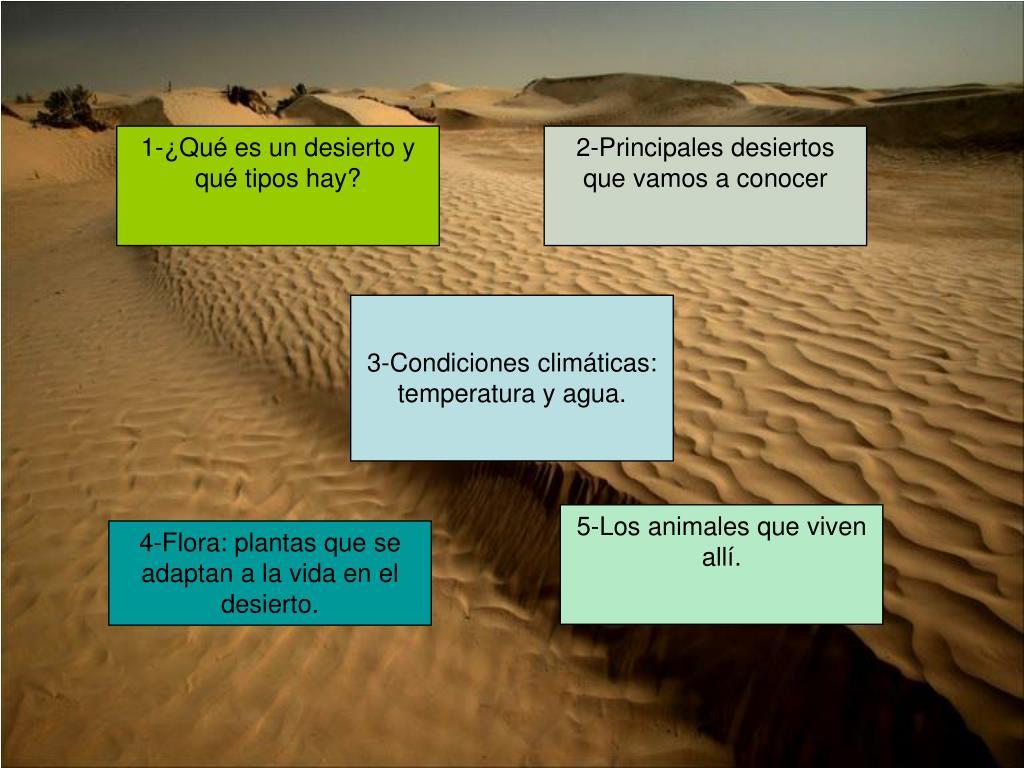 1-¿Qué es un desierto y qué tipos hay?