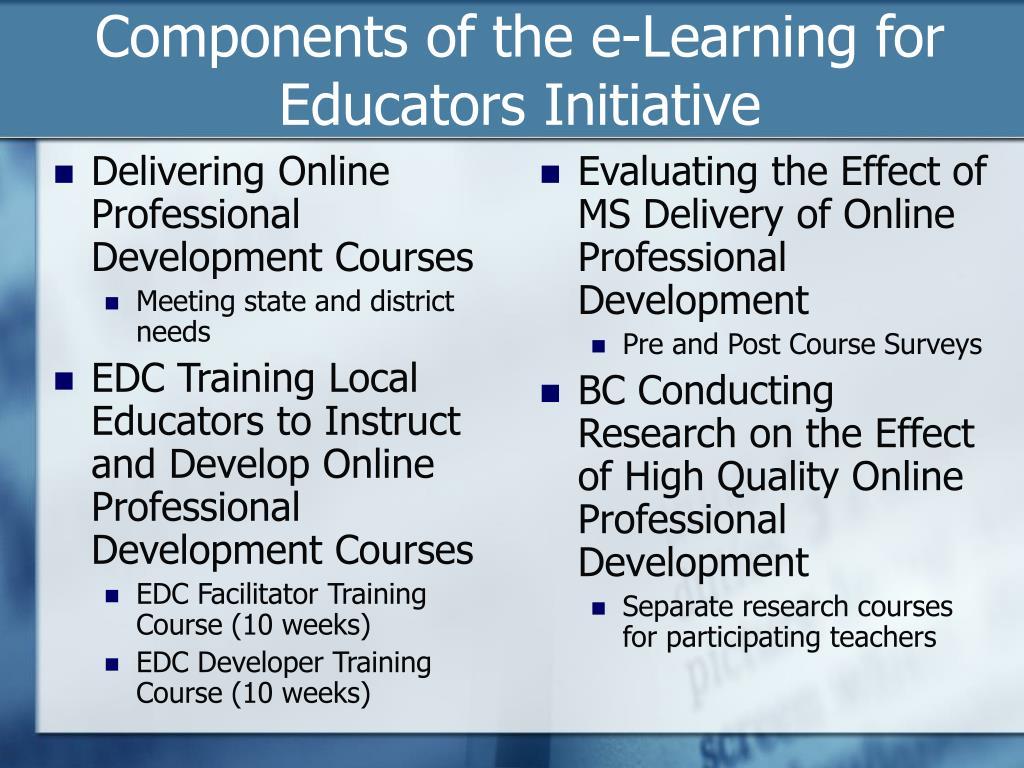 Delivering Online Professional Development Courses