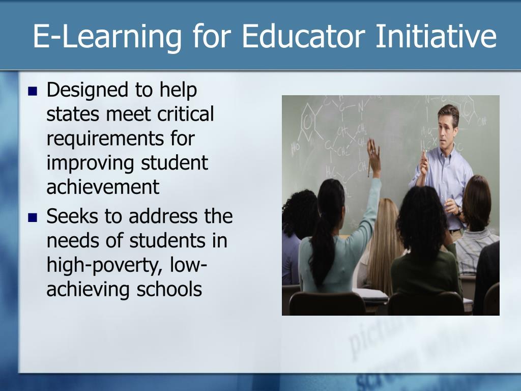 E-Learning for Educator Initiative