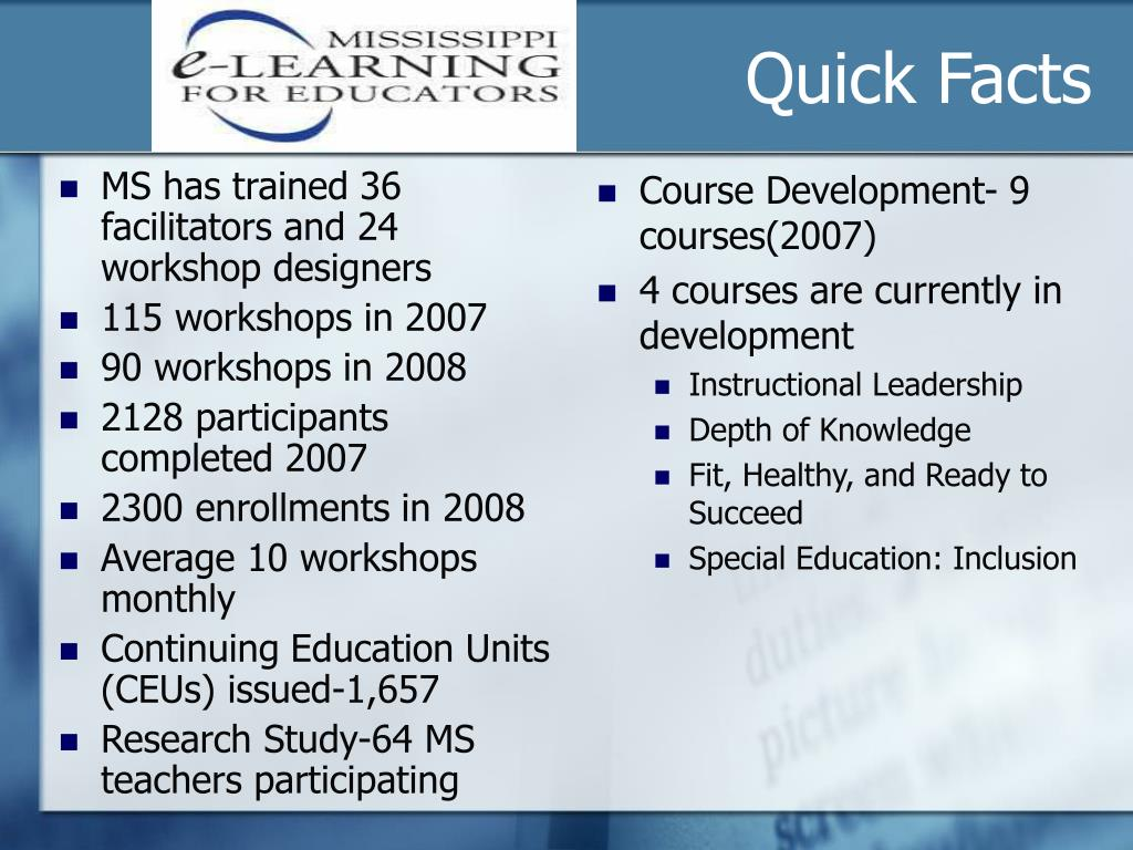 MS has trained 36 facilitators and 24 workshop designers