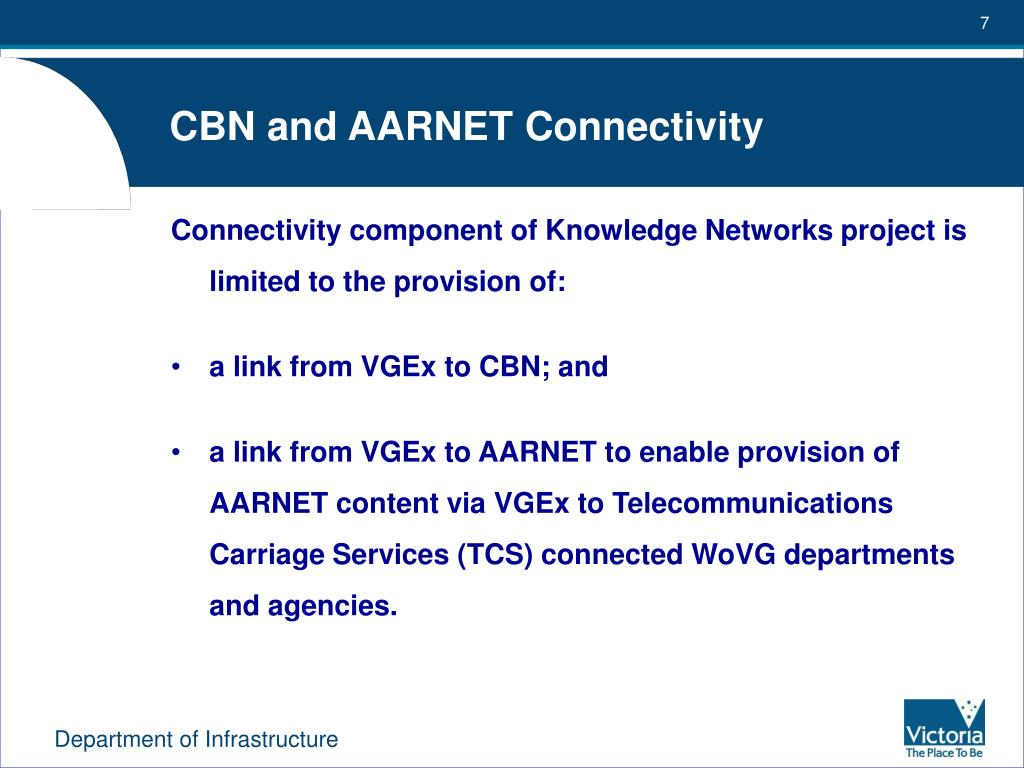CBN and AARNET Connectivity