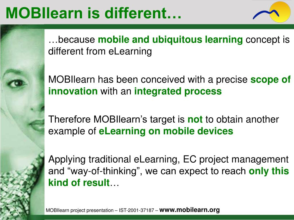 MOBIlearn is different…