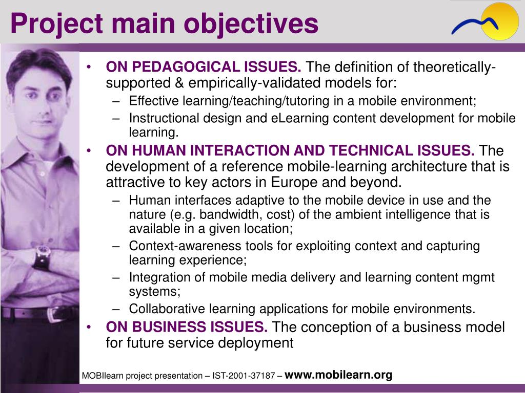 Project main objectives