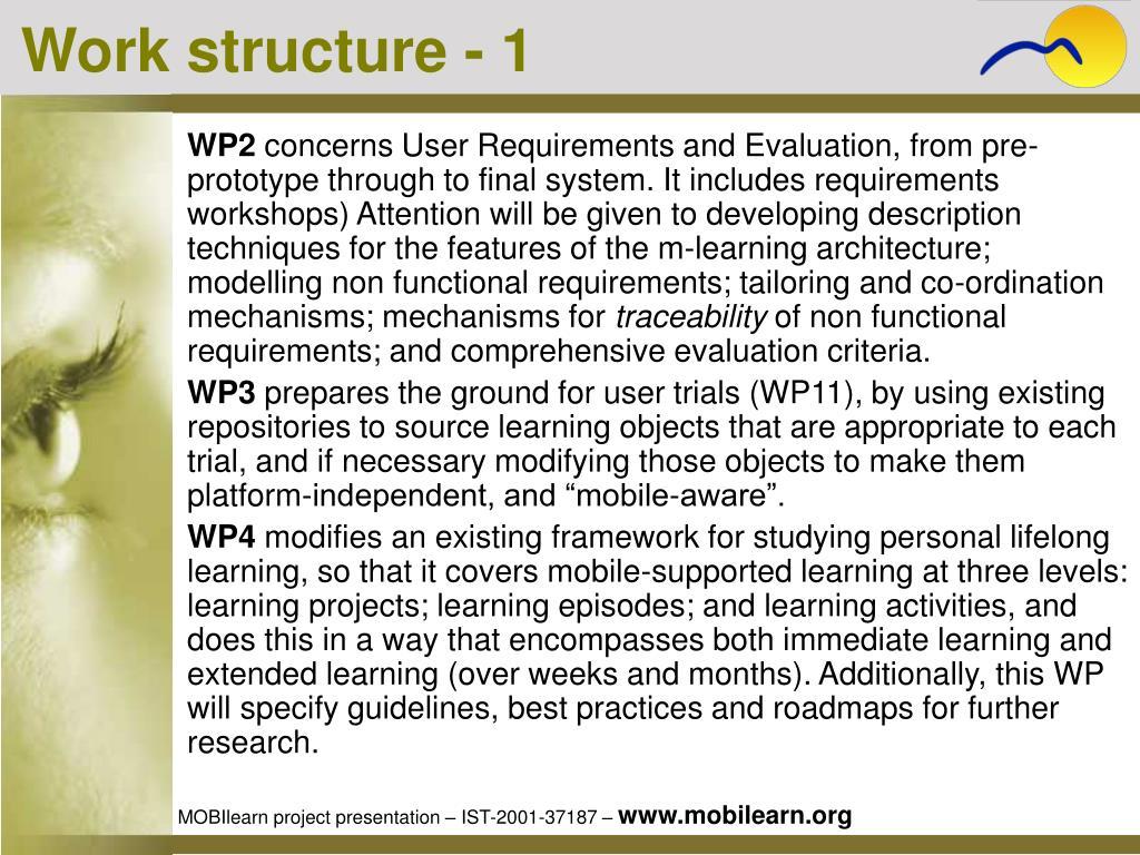 Work structure - 1