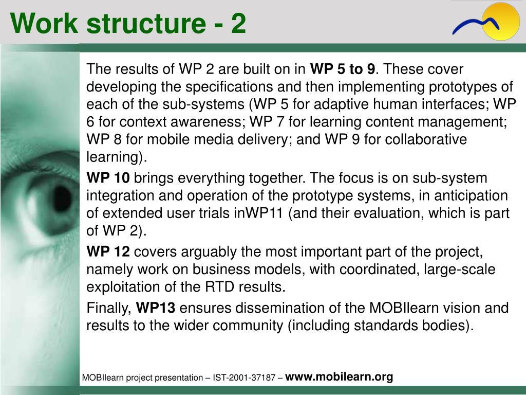 Work structure - 2