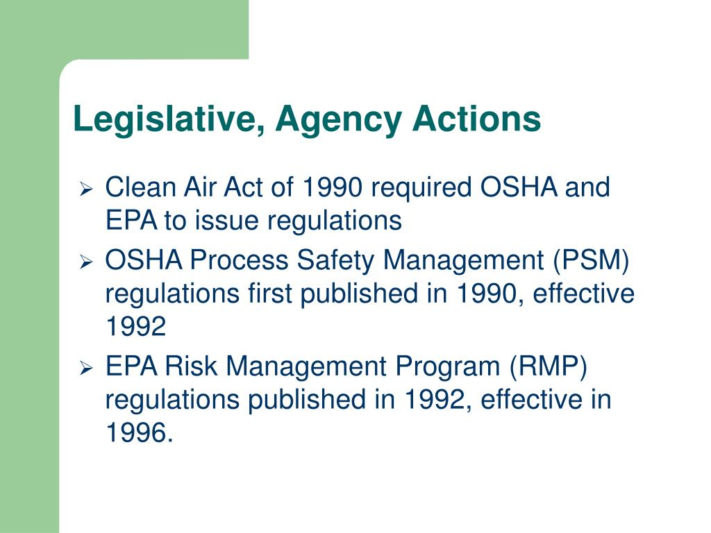 clean air act The plain english guide to the clean air act provides a brief introduction to the 1990 clean air act.