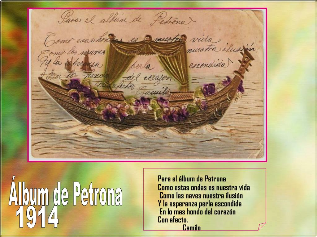 Para el álbum de Petrona