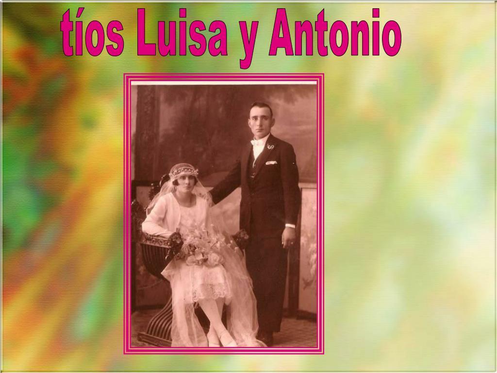 tíos Luisa y Antonio