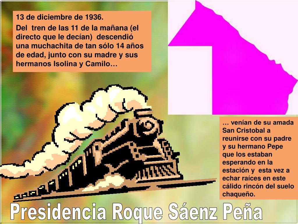 13 de diciembre de 1936.