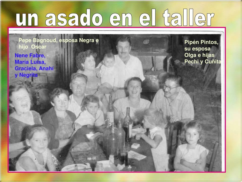 Pepe Bagnoud, esposa Negra e hijo  Oscar
