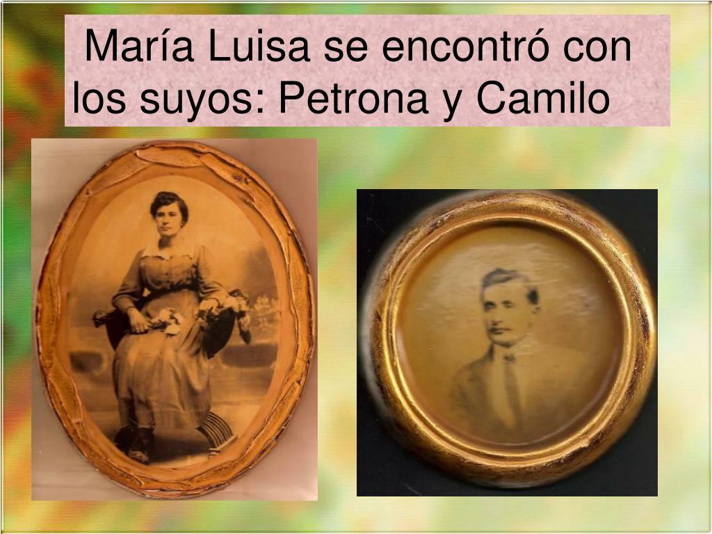 María Luisa se encontró con los suyos: Petrona y Camilo