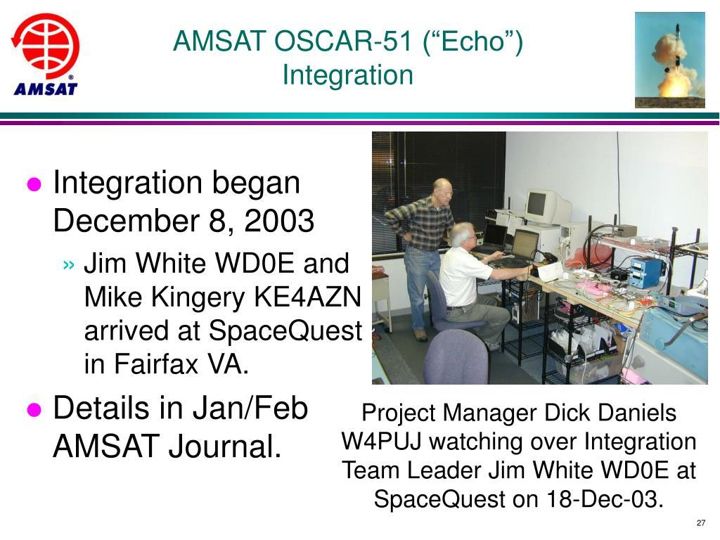 "AMSAT OSCAR-51 (""Echo"")"