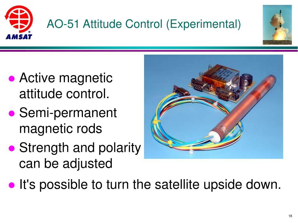 AO-51 Attitude Control (Experimental)