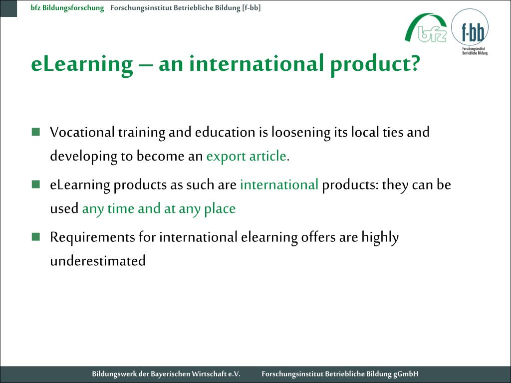 eLearning – an international product?
