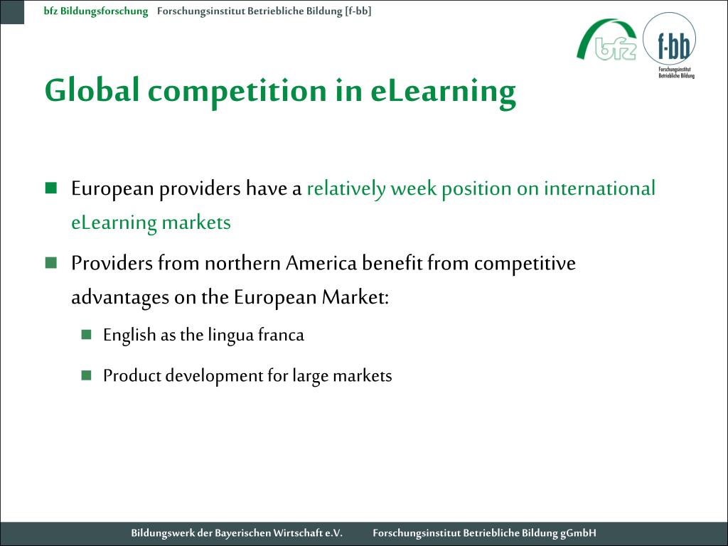 Global competition in eLearning