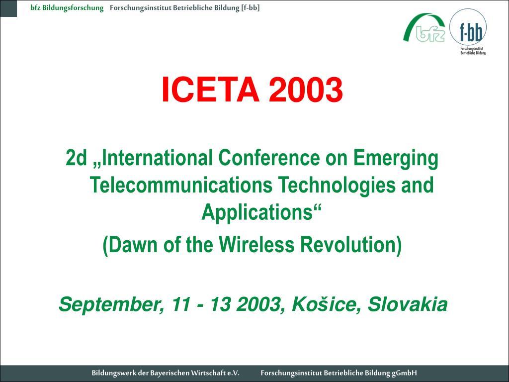 ICETA 2003