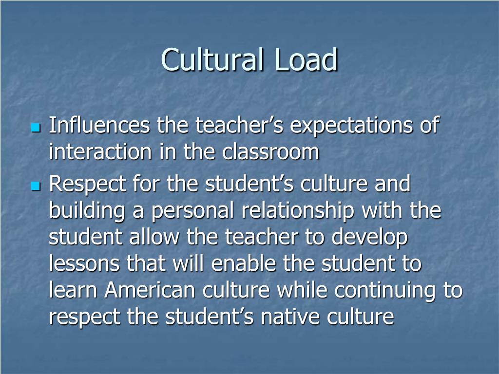 Cultural Load