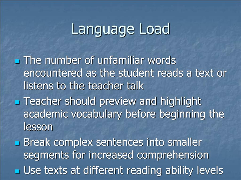 Language Load