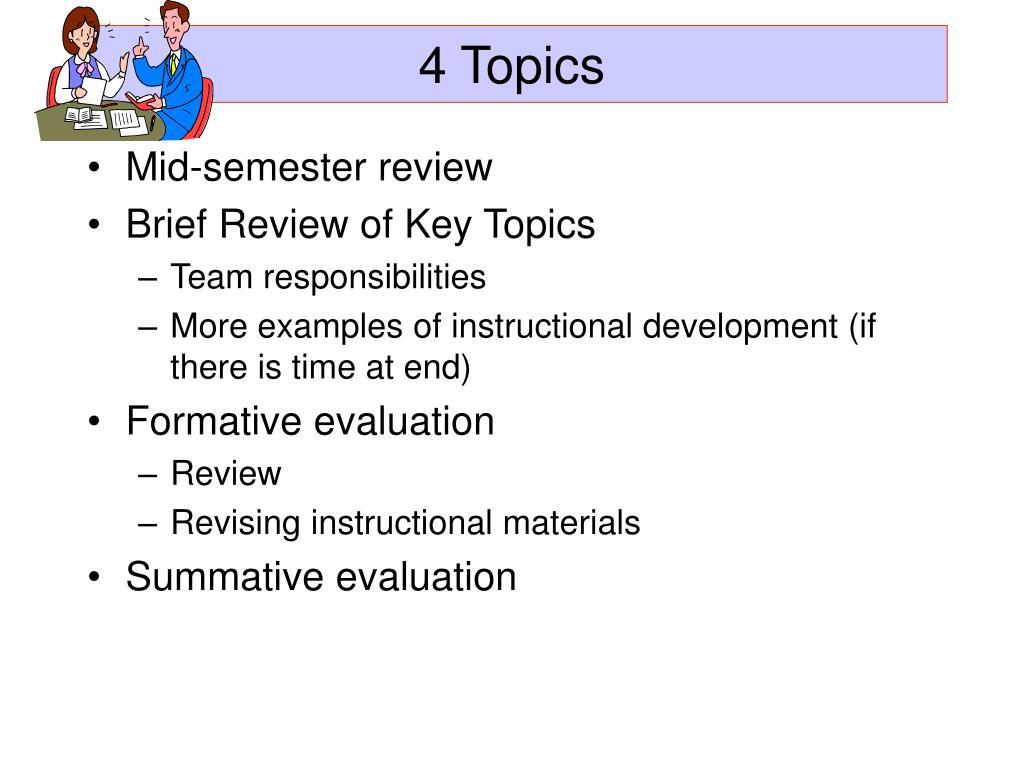 4 Topics