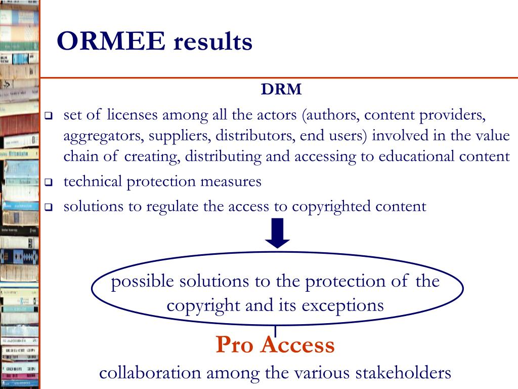 ORMEE results
