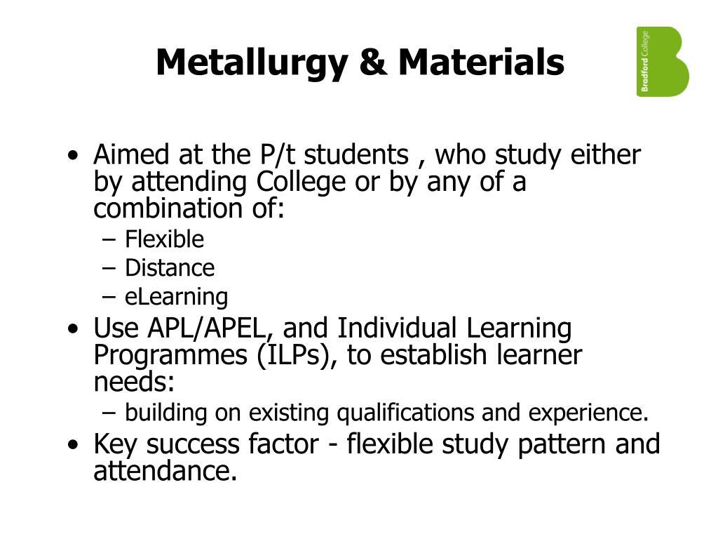 Metallurgy & Materials