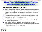 news over wireless develops custom mobile content for broadcasters
