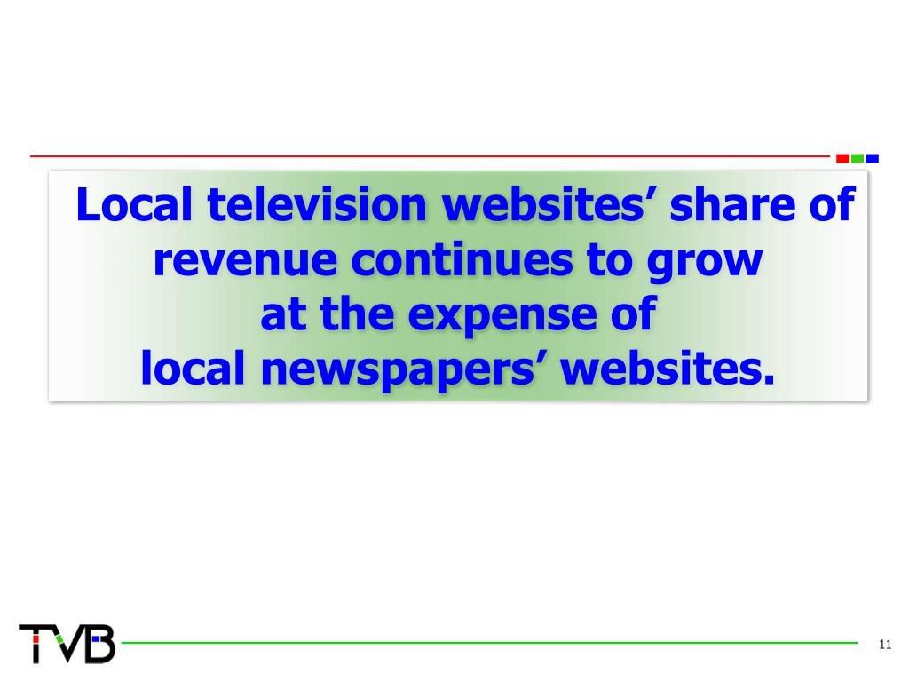 Local television websites' share of  revenue continues to grow