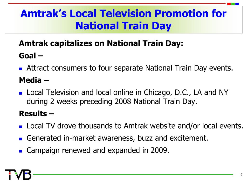 Amtrak's Local Television Promotion for National Train Day