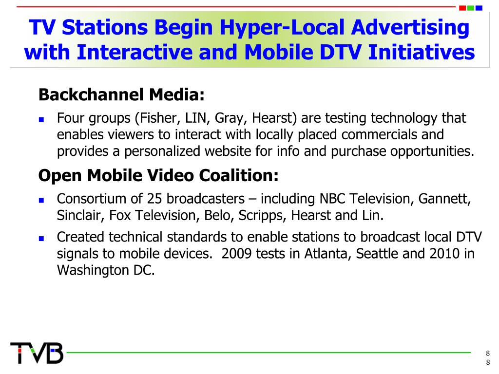 TV Stations Begin Hyper-Local Advertising with Interactive and Mobile DTV Initiatives
