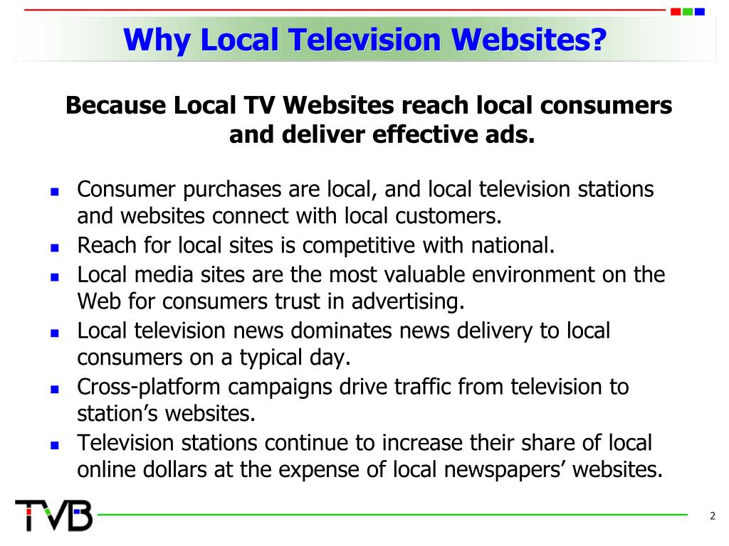 Why Local Television Websites?