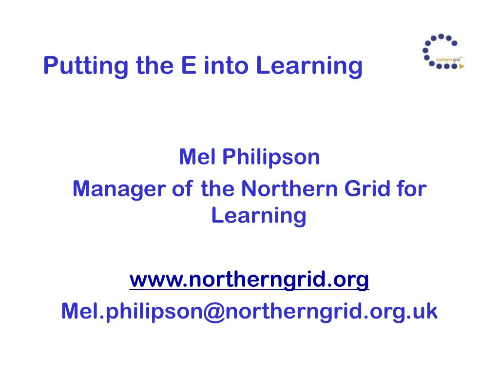 Putting the E into Learning