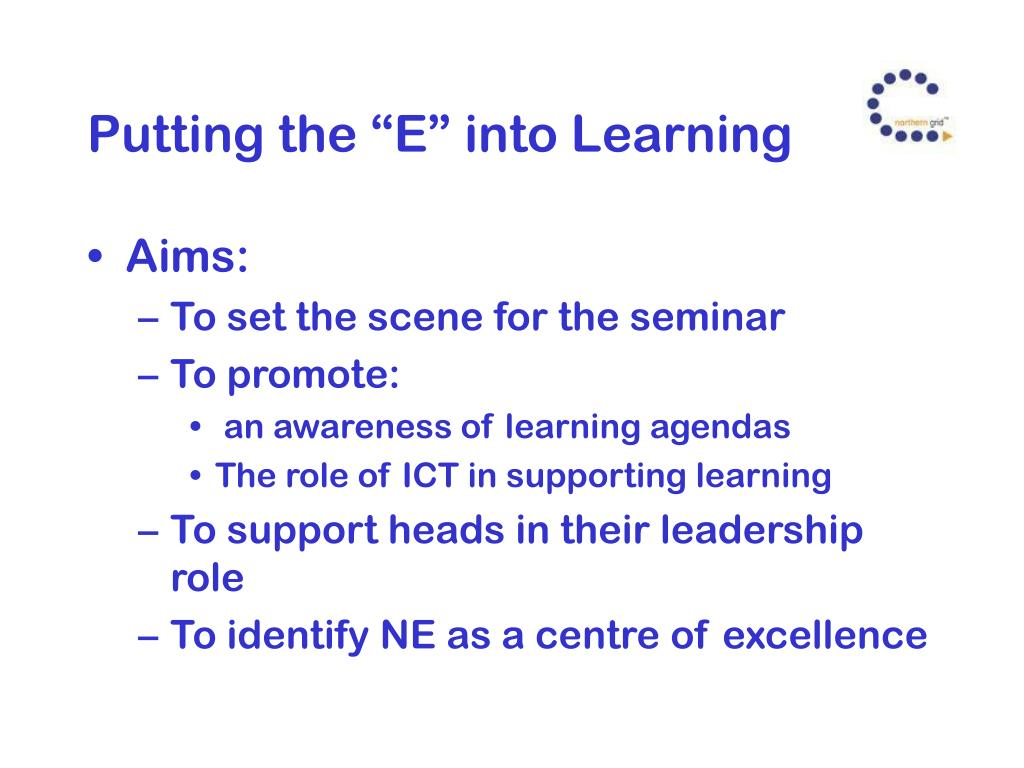 """Putting the """"E"""" into Learning"""