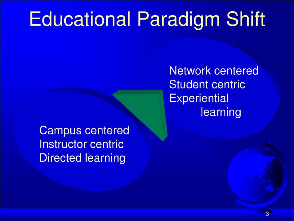 Educational Paradigm Shift