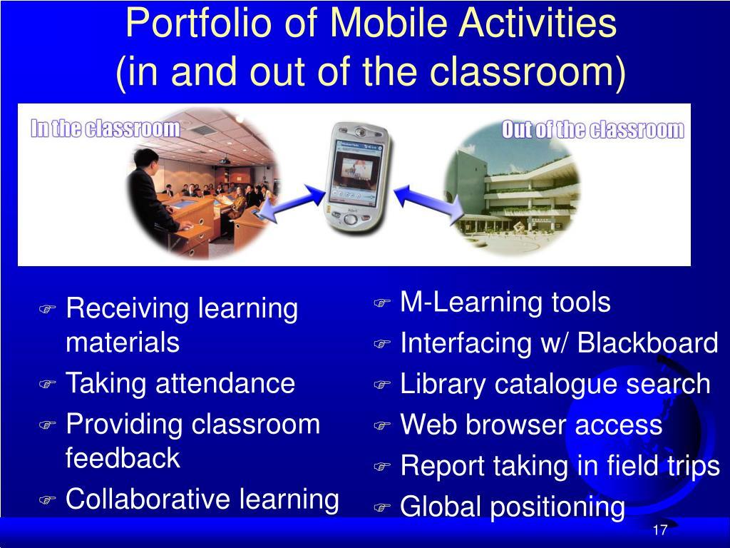 Portfolio of Mobile Activities
