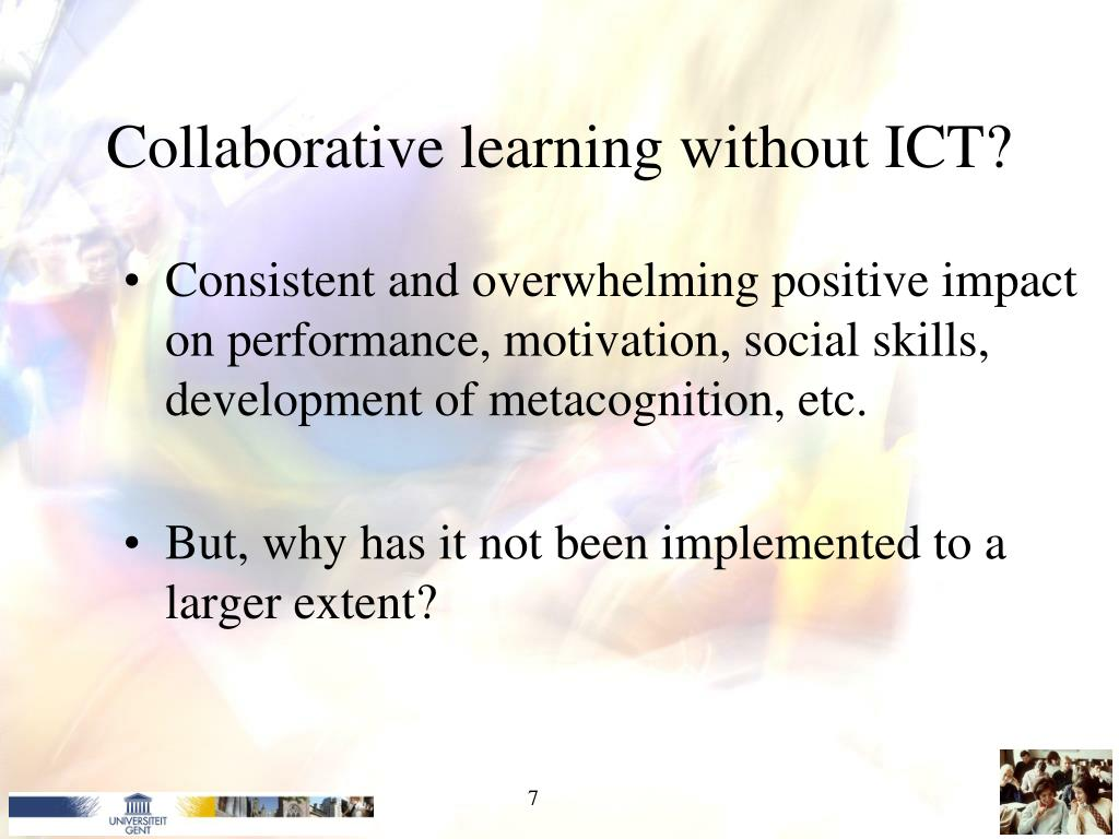 Collaborative learning without ICT?