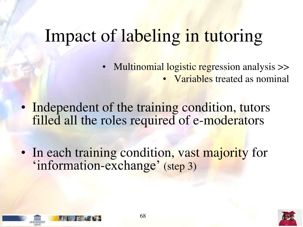 Impact of labeling in tutoring