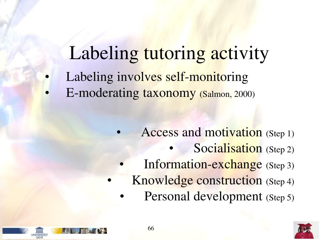 Labeling tutoring activity