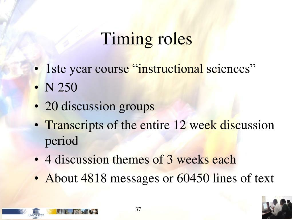 Timing roles