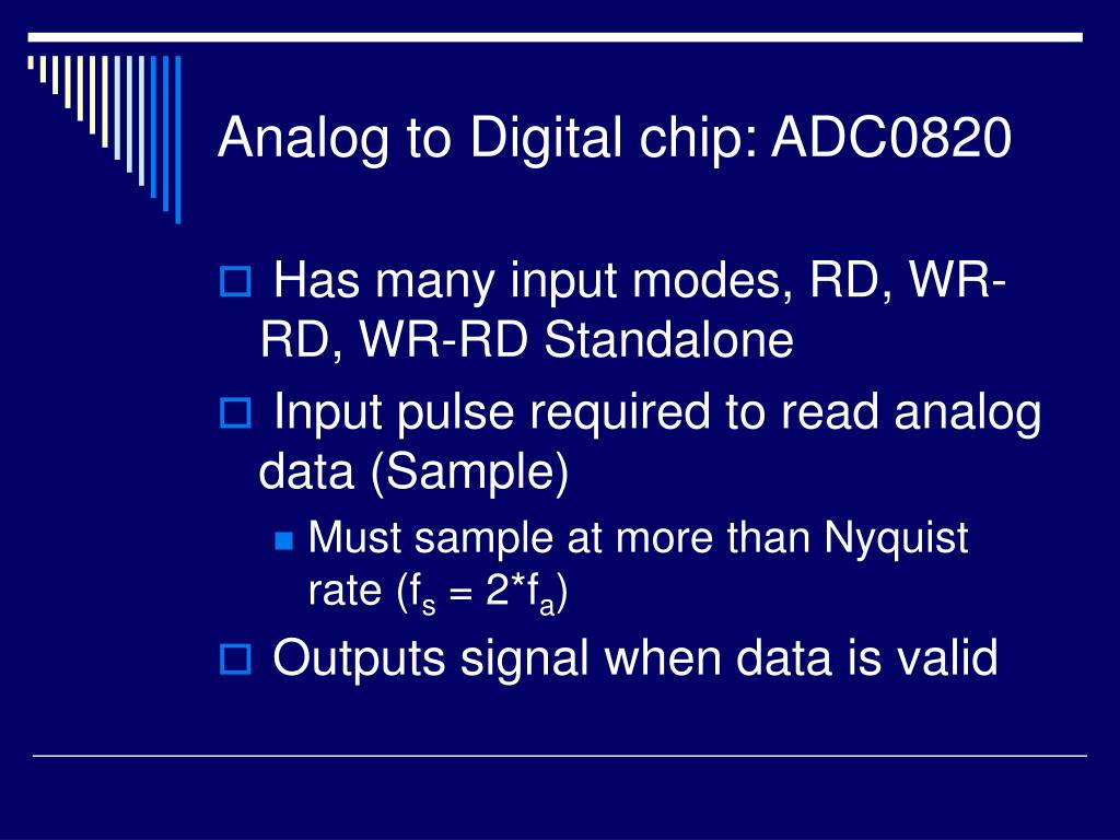 Analog to Digital chip: ADC0820
