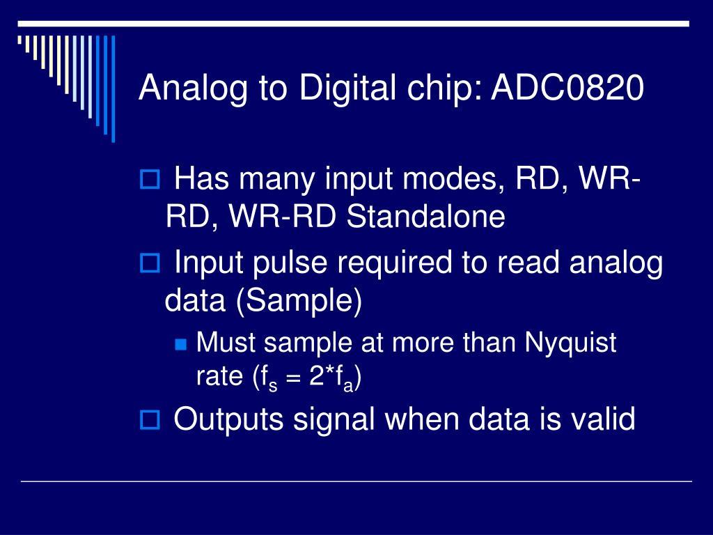 Analog to Digital chip: ADC0820