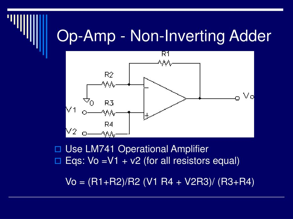 Op-Amp - Non-Inverting Adder