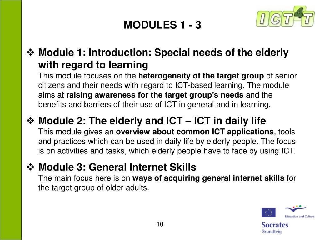 MODULES 1 - 3