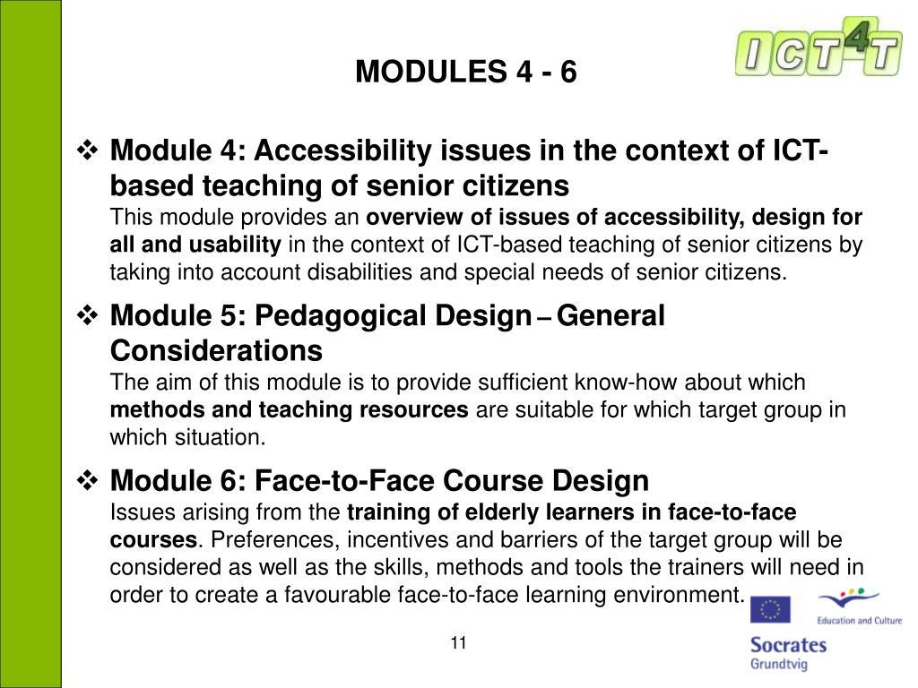 MODULES 4 - 6
