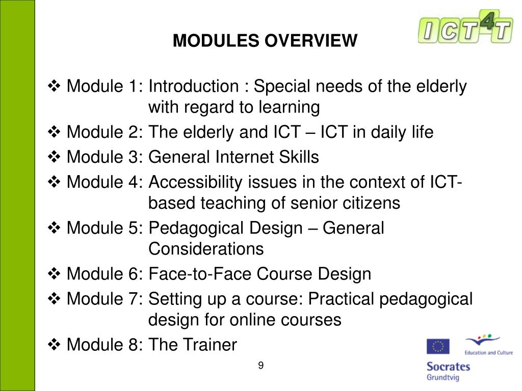 MODULES OVERVIEW