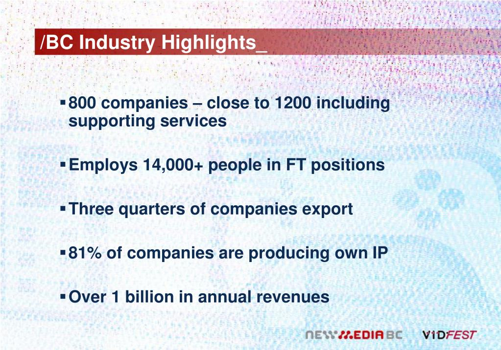 /BC Industry Highlights_