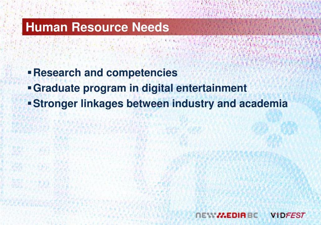 Human Resource Needs
