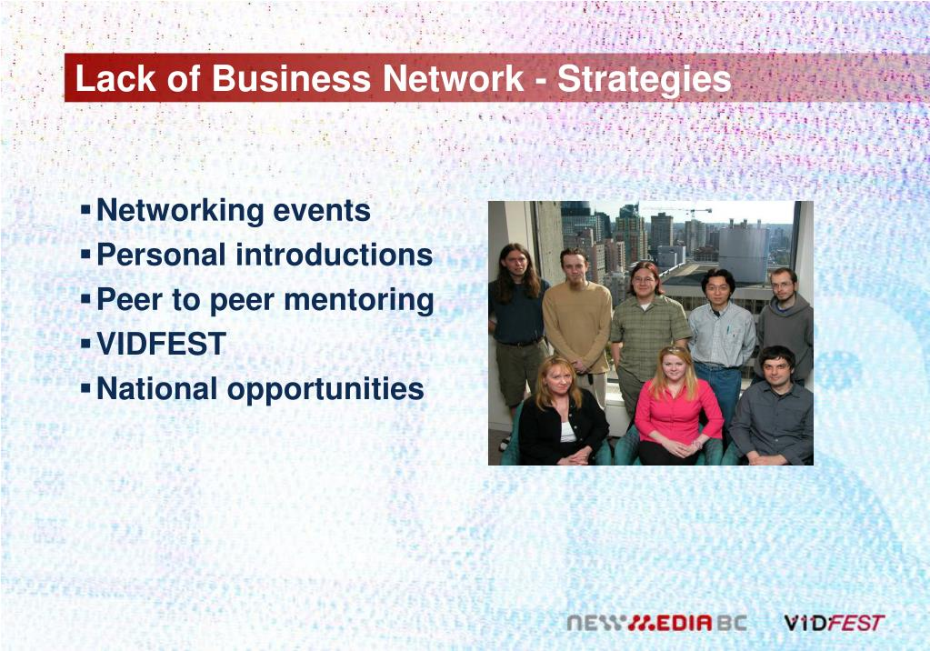Lack of Business Network - Strategies